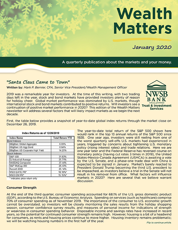 Wealth Matters Newsletter January 2019